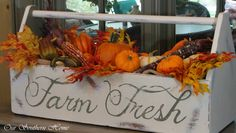southern home fall tour, seasonal holiday d cor, wreaths, Vintage tool box repainted with chalk paint tutorial soon