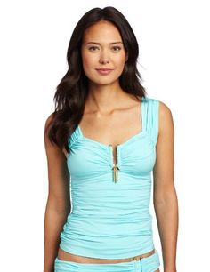 Kenneth Cole Women's In The Swing Of Things Tankini Kenneth Cole. $69.00. Tummy toner inside. Made in China. Hand Wash. 84% Nylon/16% Elastane. Sheering on front and back panel