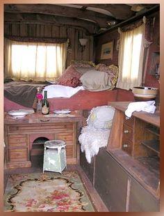 Gypsy Wagons - Interior Photos  from  Ranch Willow Wagon Co.  Sheridan County, Wyoming
