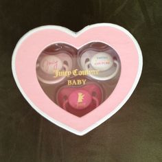Juicy Couture Baby Pacifiers! Brand New! Still has pacifier covers on them. Juicy Couture Accessories