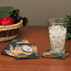 Pittsburgh Steelers 4-Pack Sublimated Logo Neoprene Coaster Set