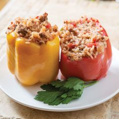 Home Plates: Jerry Slaters Meat-and-Rice-Stuffed Peppers - Entrees - Southern Recipes - Atlanta Magazine