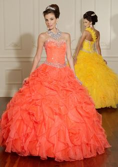 I'm loving the orange! QUINCEANERA VIZCAYA By Mori Lee Style 88008