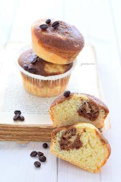 Muffin variegati al caffellatte