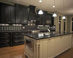 Combinate Gray Kitchen Cabinets with Black Appliances Luxury Kitchen Ideas Nice…