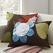 Set of 2 Modern Patchwork Floral Polyester De... – USD $ 24.99