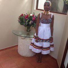 bongiwewalaza's photo on Instagram ndebele fusion dress African Fashion Ankara, African Inspired Fashion, Africa Fashion, African Attire, African Wear, African Theme, African Style, African Goddess, Shweshwe Dresses