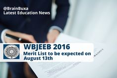 #EducationNews WBJEEB 2106: Merit List to be expected on August 13th  --   The Joint Entrance Examination board of West Bengal (WBJEEB) is expected to release its merit list of EVETS-2016 examination on August 13th on its official website.The exam was conducted on 17th July at various centers across the state.The examination was conducted for admission purposes in the program Bachelor of Veterinary Science and Animal Husbandry (B V Sc and AH) for academic session 2016...