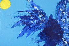 Icarus Paintings - Icarus Losing Altitude by Omar Hafidi