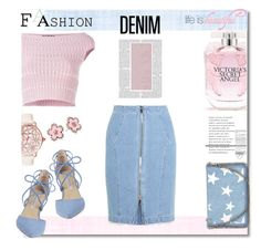 """Denim Pastel"" by nans-g ❤ liked on Polyvore featuring Alexander McQueen, Betsey Johnson, Kristin Cavallari, Steve J & Yoni P, STELLA McCARTNEY and Victoria's Secret"