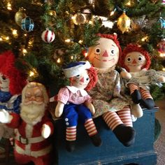 Raggedy Ann & friends Christmas. They all are underneath my tree..lots of them.