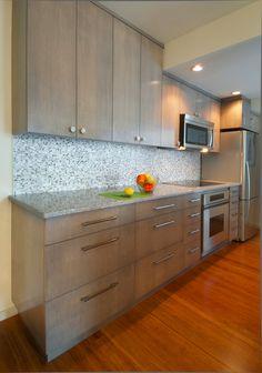 Kitchen in Seattle Condo Remodel with Ann Sacks Tile Backsplash