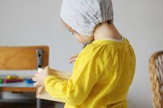 "Madame Chacha | Homemade baby hat with Astrid Le Provost pattern ""Les intemporels pour bébés"""