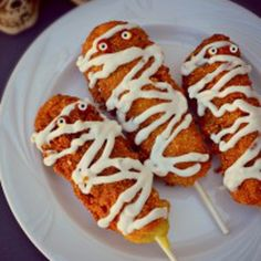Gluten Free and Vegan Corn Dog Mummies Recipe - ZipList