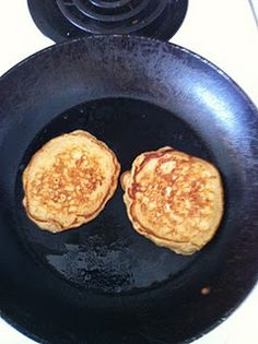 Brown sugar oatmeal pancakes. These are really good. I changed a couple things from the recipe and made a simple blueberry syrup.