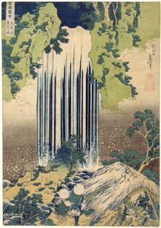 "Yoro Waterfall in Mino Province, from ""Famous Waterfalls in Various Provinces""  1833    Katsushika Hokusai"