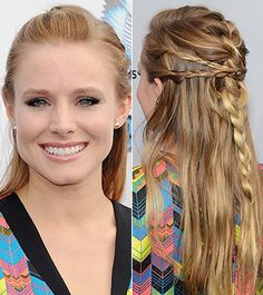Get The Look: Kristen Bell's Braided Half-Up 'Do - Daily Makeover