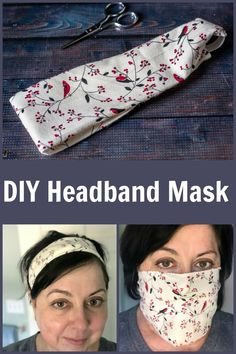 Make this simple headband and use it as a face mask in a pinch. An easy beginner sewing project. Sewing Hacks, Sewing Tutorials, Sewing Crafts, Sewing Patterns, Fabric Crafts, Fabric Art, Sewing Tips, Quilt Patterns, Easy Face Masks
