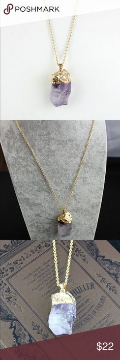 Gold Plated Amethyst Necklace NWT Gold Plated amethyst necklace. The pictures don't do these necklaces justice. They are so gorgeous. Jewelry Necklaces