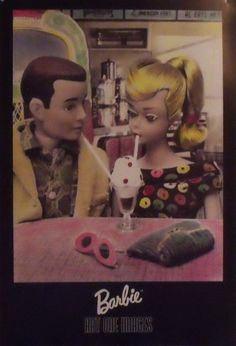 Large Vintage Barbie & Ken Doll Soda Fountain Poster by dandorf2, $9.75