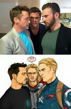 This is great. Tony, Thor and Steve