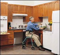 1000 images about cool access ideas 4 home on pinterest for Kitchen design for wheelchair user