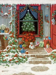 Sapin de Noël-Janet Kruskamp art