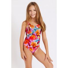 - Girls' swimsuit- One-piece with jungle floral print- Pink- Our model is 4'7 Kids Swimwear, Swimsuits, Dance Moms Dancers, Girls One Piece Swimsuit, Pink One Piece, Summer Collection, Pink Girl, Floral Prints, Natural Healing