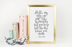 KANYE WEST QUOTE Hello My Only One Bedroom DecorGift by TypoHome
