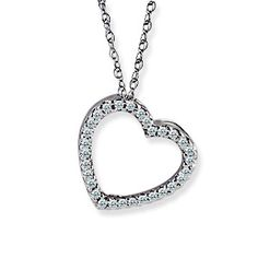 Born 2 impress: Check Out the First Giveaway for The Diva Files Blog -Win a .15 Carat Weight Diamond Heart Pendant