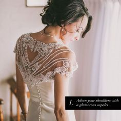 Beaded bridal caplet - 6 ways to fall back in love with your wedding dress