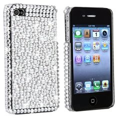 Snap-on Case Compatible With Apple® iPhone® 4, Silver Diamond Version 2