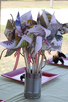 Farm, vintage, little Golden Books Birthday Party Ideas | Photo 7 of 26 | Catch My Party