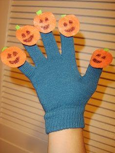 Five Little Pumpkins Hand Puppet