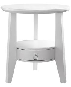 White Accent Table With 1 Drawer - Monarch Specialties your living space with this beautifully crafted elliptical accent table. Featuring a thick, bevelled, edge top and middle shelf with storage drawyer, this piece will be the foca White Accent Table, Round Accent Table, Round Side Table, Accent Tables, Round Dining, Side Tables, Dining Table, Side Table With Drawer, End Tables With Storage