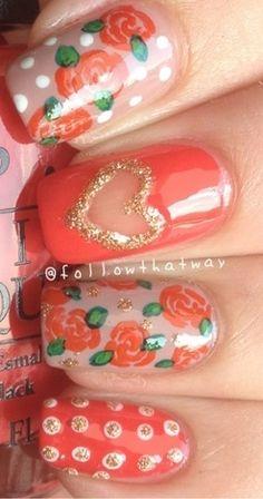 Nail Art - http://www.followthatway.blogspot.com/2013/01/nail-art-twist-with-valentine-chinese.html?m=1