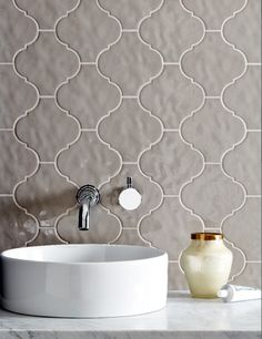 Monastir Tula Decor Dove Gloss - Decorative & Glazed tiles. Mandarin Stone.