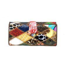 Dámská barevná kožená peněženka - peněženky AHAL