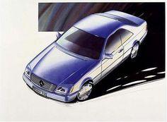 OG | 1992 Mercedes-Benz CL - C140 | Design sketch