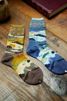 "Lovely landscape socks. ANTIPAST ""A WHOLE NEW WORLD"" ソックス (ladies)"
