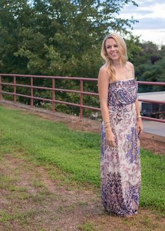 Breastfeeding friendly strapless maxi dress! So pretty and comes in a ton of colors for under $30!