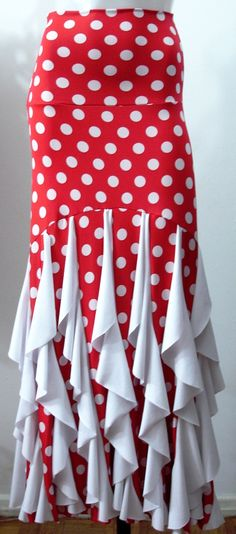 Flamenco skirt--it would look beautiful when walking in the breeze!