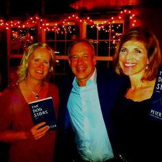 Myself, Janis Segress, author Peter Heller. Peter is coming to the Poulsbo Library August 14th 7:30p