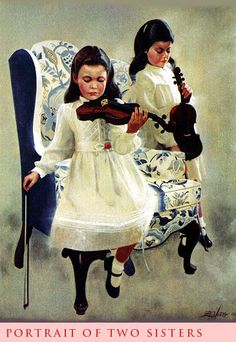Donald Zolan - Portrait of Two Sisters (365×530)