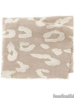 Busse Leopard by fabricut.com. housebeautiful.com. #leopard #animal_print #linen #fabric