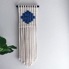 Macrame Wall Hanging/Tapestry/Weaving/Rose Quartz by ReformFibers