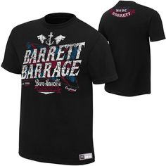 Wade Barrett Barrage Men's Authentic T-shirt - WWE