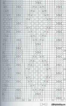 Схема вязания спицами №34 Аран (Aran) Crochet Motif, Knit Crochet, Fillet Crochet, Knitting Stitches, Cable Knit, Charts, Free Pattern, Knitting Patterns, Cross Stitch