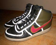 wholesale dealer 4a5cb 42025 Nike 309427-381 Vandal High Leather Dark Army Green Flamingo Pink Pilgrim sz  11