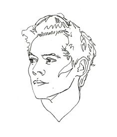 original scan of the line exercise i did last week in ink Outline Art, Outline Drawings, Art Drawings Sketches, Easy Drawings, Arte One Direction, One Direction Drawings, Harry Styles Dibujo, Harry Styles Drawing, Desenhos One Direction